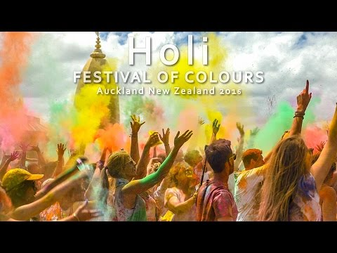 Holi FESTIVAL OF COLOURS - Auckland New Zealand 2016