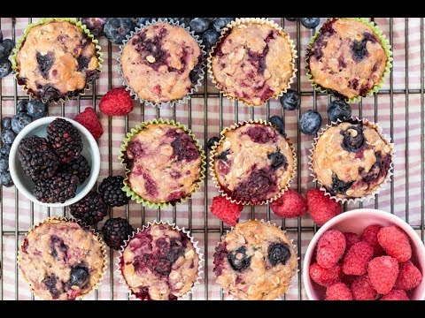 Very Berry Muffins Healthy Snack Recipes Weelicious