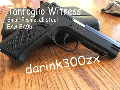 Tanfoglio Witness steel, small frame, EA9B EAA import