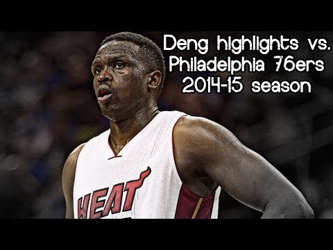 Luol Deng 29 pts in 33 mins (NBA RS 2014/2015 - Philadelphia 76ers vs. Miami Heat)