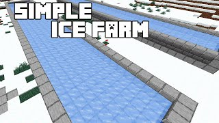 Simple Ice Farm - Minecraft 1.15/1.16 Tutorial (Java Edition)