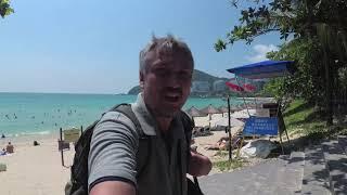 Южный Китай. Прогулка по самому чистому пляжу в Китае. Дадунхай, Санья бич, город Санья