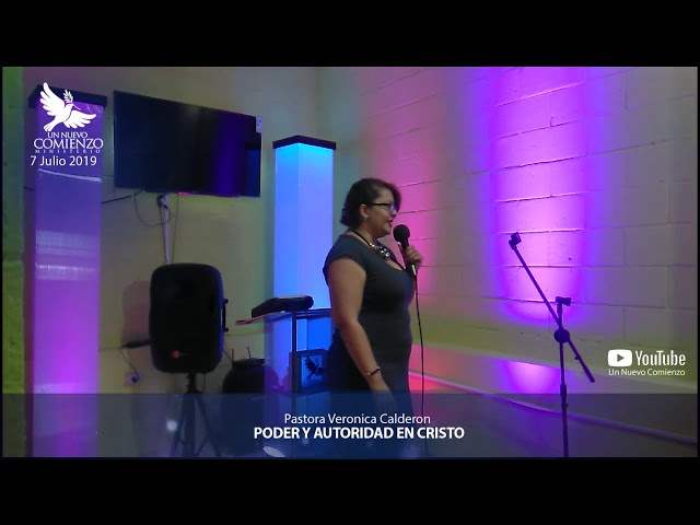 Predica # 101 -PODER Y AUTORIDAD EN CRISTO- Pastora Veronica Calderon