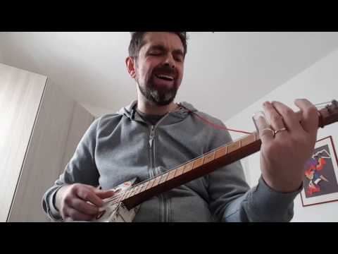 Walkin' Blues on cigar box guitar