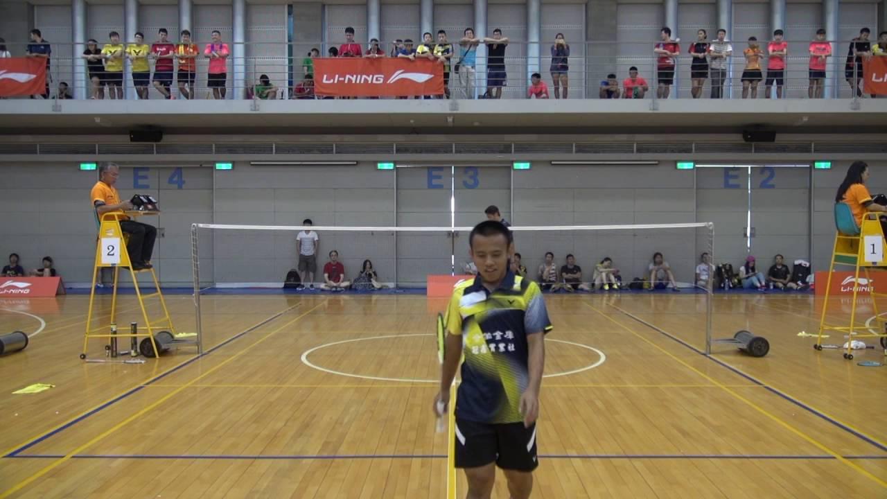 2016年8月李寧盃全國分級羽球排名賽集錦313 - YouTube