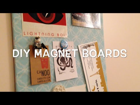 Magnet Boards - Dorm Room DIY
