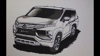 Cara Menggambar Mobil Mitsubishi Xpander How To Draw A Mitsubishi Xpander Car Youtube