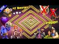 NEW 'UNBEATABLE' TH 11 WAR BASE 2018 Anti 3 Star With Replay Anti Queen Walk BoWitch Anti Everything
