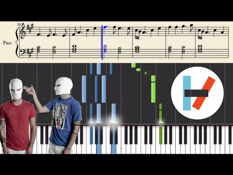 twenty one pilots: Guns For Hands (Piano Tutorial) with sheets!