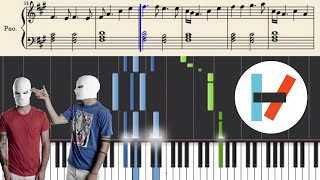twenty one pilots: Guns For Hands (Piano Tutorial)