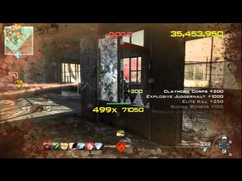 MW3 Chaos Mode: 57million Score - 606 Combo in Dome |