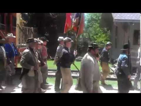 The Confederate Army Marches Out