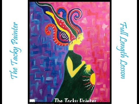 Motherhood Abstract // Acrylic Lesson // The Tacky Painter