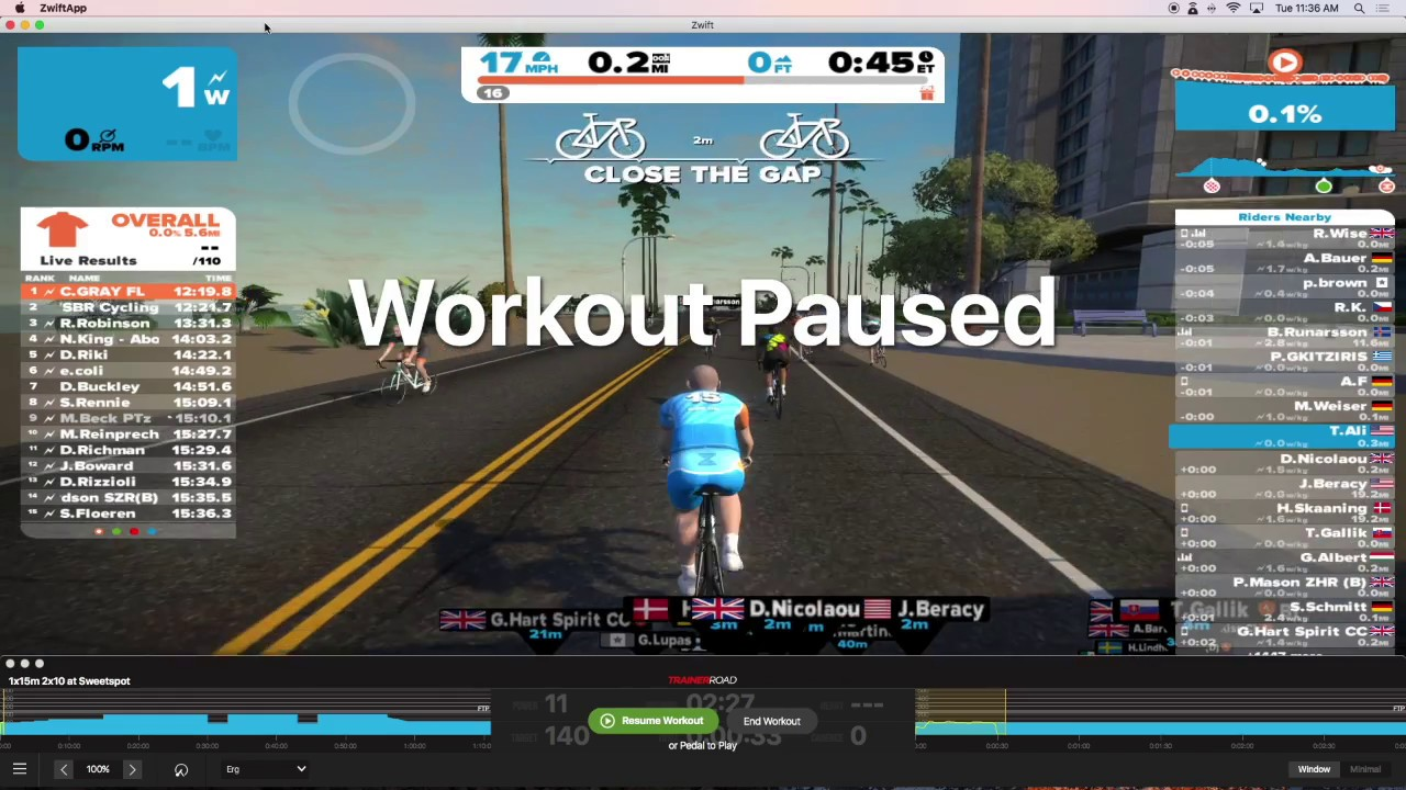 How to run Zwift & TrainerRoad Simultaneously