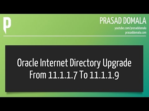 Oracle Identity Management / Oracle Internet Directory Upgrade from 11.1.17 to 11.1.1.9