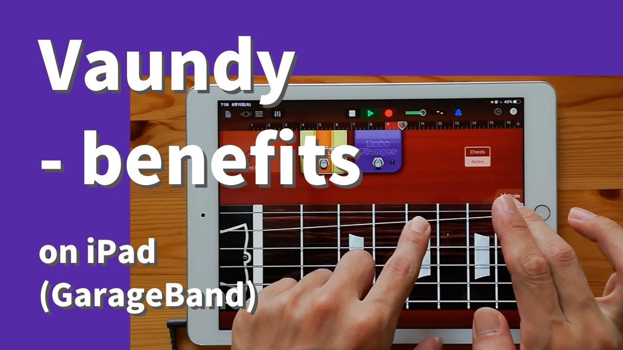 Vaundy - benefits on iPad(GarageBand)//ガレージバンドiOSで作ってみた