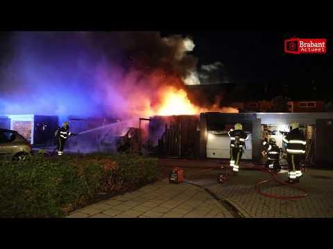 Grote brand en explosie aan Patrijsdonk in Veghel