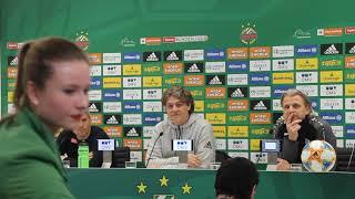 Pressekonferenz nach dem ÖFB-Cup Viertelfinale zwischen SK Rapid Wien vs. TSV Hartberg