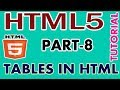 PART-8 HOW TO CREATE TABLES IN HTML #HTML5 TUTORIAL IN TAMIL
