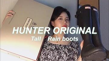 Hunter Rain Boots REVIEW/헌터 오리지날 톨 레인부츠/싸게사는 법/착샷/사이즈 팁/ 여름장마/Sobaek소백