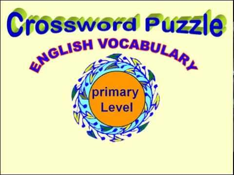 CROSSWORD PUZZLE ENGLISH VOCABULARY FOR CHILDREN