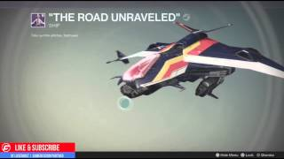 Destiny The Taken King THE ROAD UNRAVELED SHIP New Future War Cult Faction Legendary DropShip FW