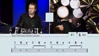 your first jazz drum lesson drumeo