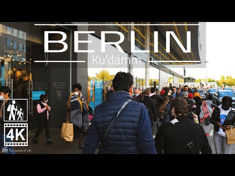 ⁴ᴷ⁶⁰ Virtual Walking in Germany 🇩🇪 | Berlin City Center Kurfürstendamm | 🎧