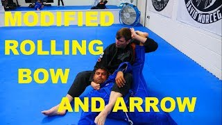 The Judo Rolling Bow and Arrow Choke Modified for BJJ (plus the grip detail that people get wrong)