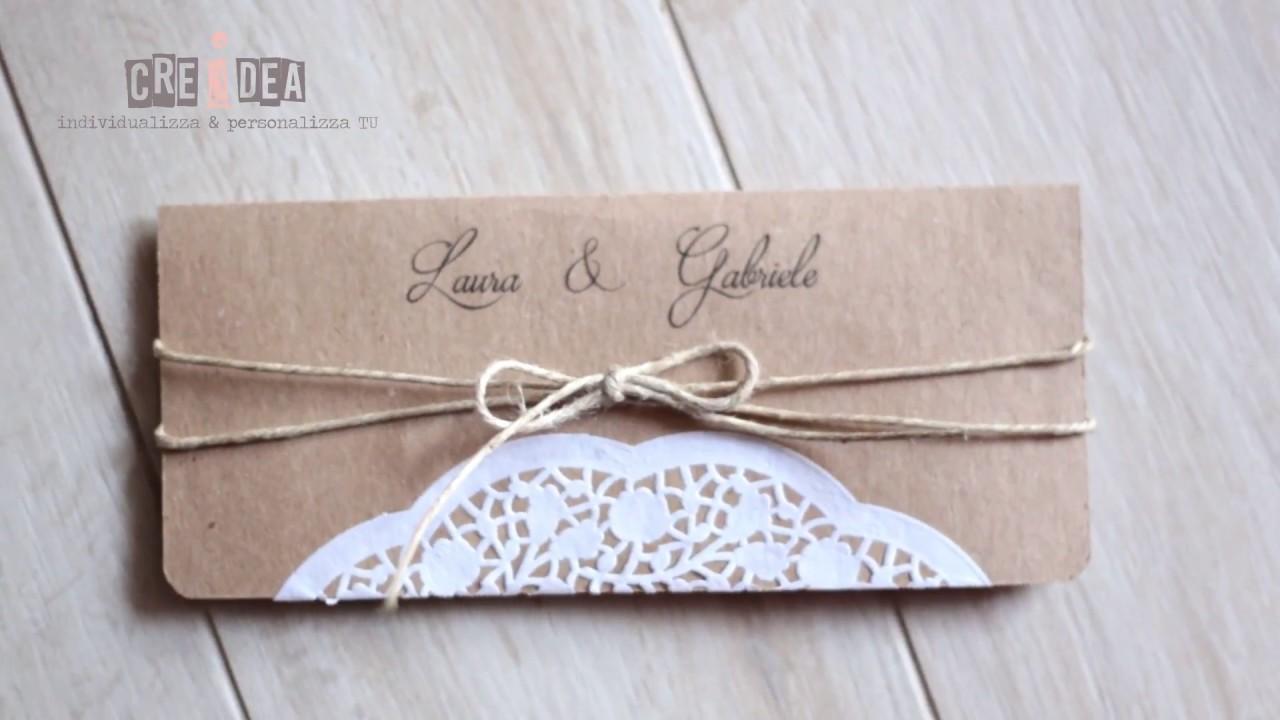Famoso DIY Shabby chic Wedding Invitation-Partecipazione fai da te Shabby  MY34