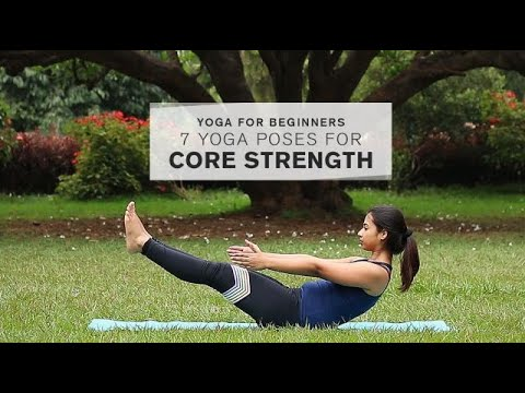 yoga for beginners 7 yoga poses for core strength  youtube