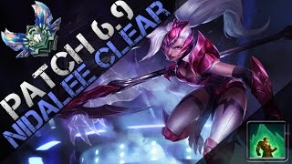 Patch 6.9 Nidalee Jungle Clear (Cougar Q Nerf)