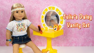 American Girl Beforever Julie's Daisy Vanity Set Unboxing and Review ~ Retired