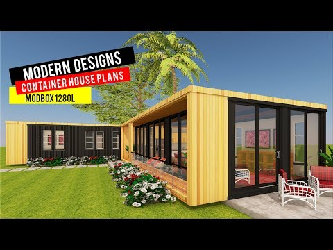 Modular Shipping Container 3 Bedroom Prefab Home Design with Floor Plans | MODBOX 1280L