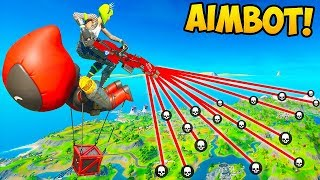 AIMBOT *HACKER* DESTROYS LOBBY!! - Fortnite Funny Fails and WTF Moments! #934