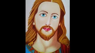 how to draw jesus christ using oil colors