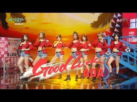 뮤직뱅크 - AOA, 더위 날리는 건강미로 컴백! '굿 럭(Good Luck)'.20160520