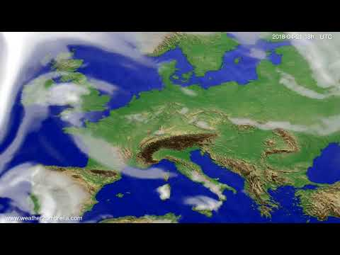 Cloud forecast Europe 2018-04-18