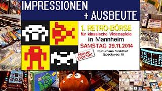 1. RETRO-BÖRSE in Mannheim, 29.11.14 | Impressionen + Ausbeute