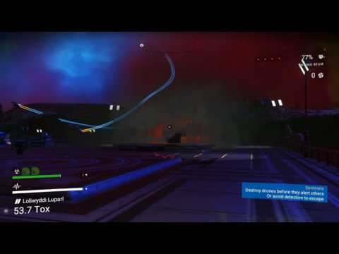 Space Battle at the Trading Depot. No Man's Sky Glitch