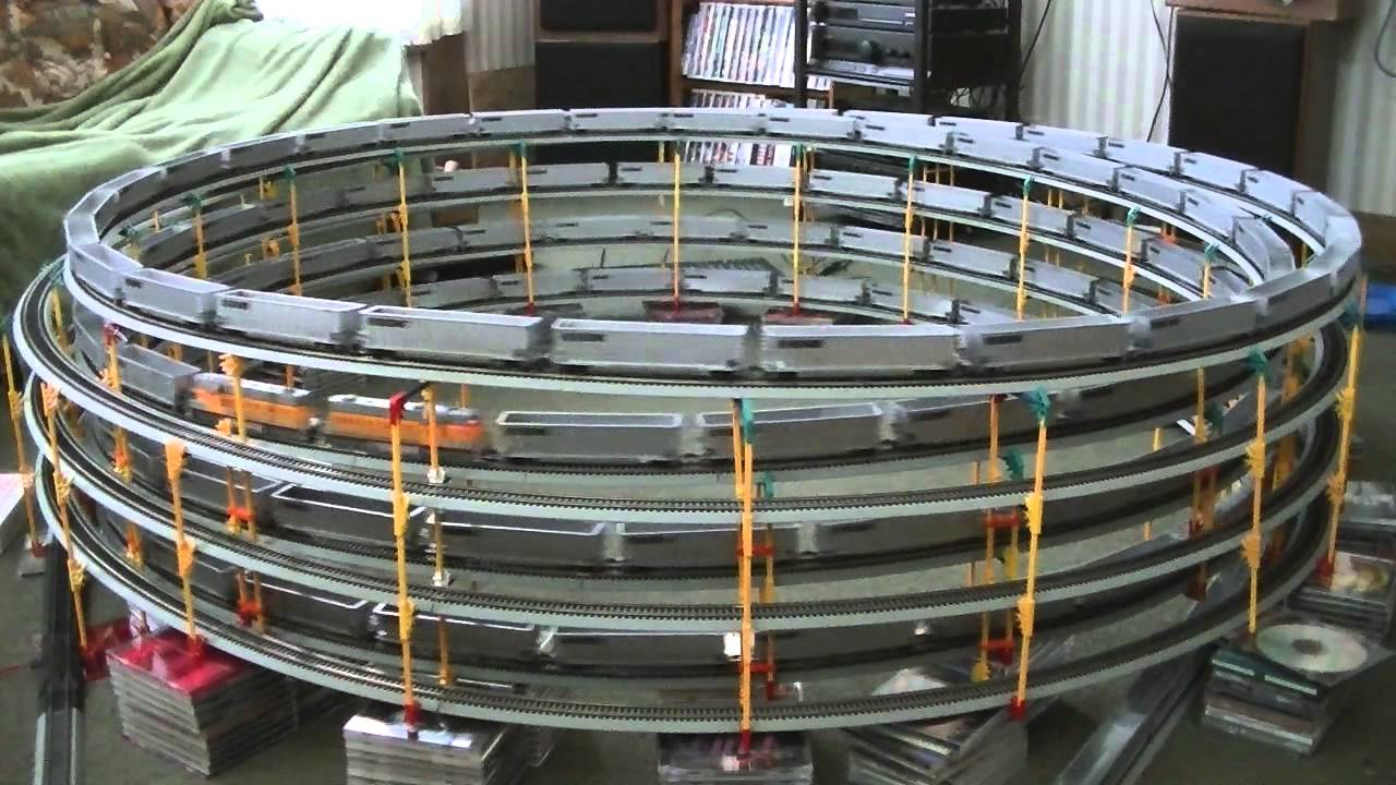 Spiral after spiral of HO-scale toy trains | The Kid Should