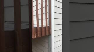 The effects of poor ledger board flashing