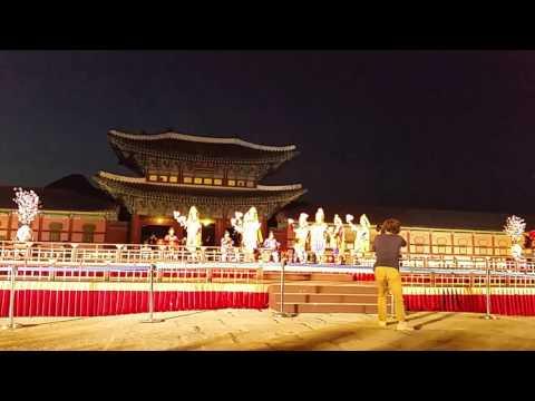 Biểu diễn Nhã nhạc cung đình Huế tại 경북궁 của Hàn quốc.