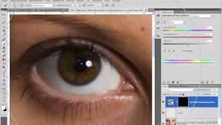 Обработка глазных яблок в Photoshop