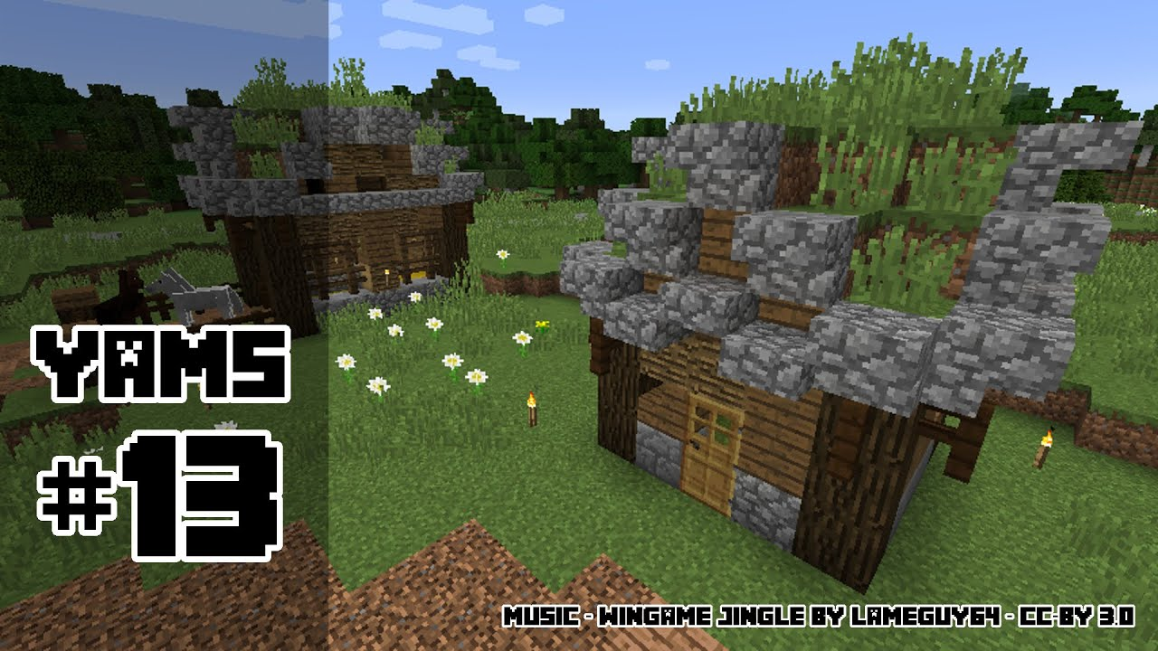 Yet Another Minecraft Series   Episode 13   Tutorial: Grass Roofed House