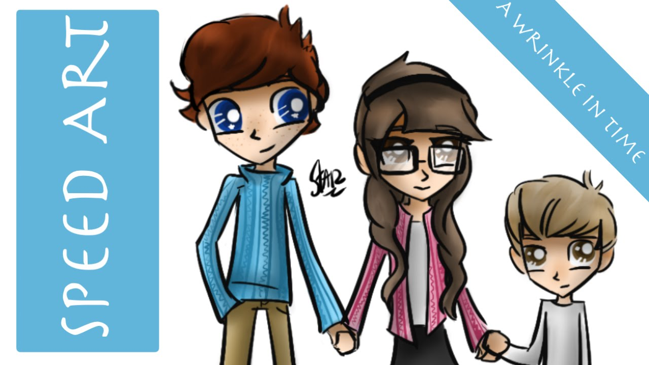 Speed Art Calvin Meg And Charles From A Wrinkle In