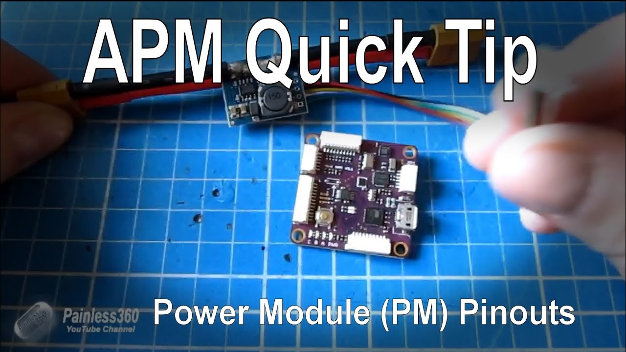 apm quick tip different pinouts for the power module pm warning [ 1280 x 720 Pixel ]