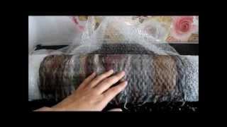 Валяние шарфа в один слой, tutorial felting scarf