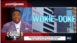 "Speak For Yourself | Whitlock ""heated"" REPORT: state China TV threaten NBA over Daryl Morey's tweet"