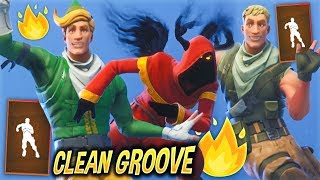 "*NEW* Leaked ""Clean Groove"" Emote Showcase With Best Fortnite Skins..!"